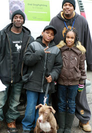 End Dogfighting anti-dogfighting advocate Sean Moore and Pit Bull Training Team student Terrence Murphy