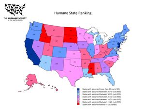 The Humane Society of the United States Humane State Ranking
