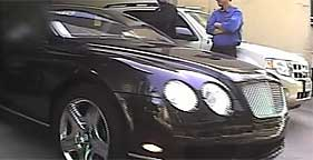 Richard Berman departs his office in his Bentley, a luxury car