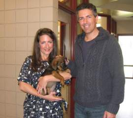 Wayne Pacelle at the SPCA of Wake County shelter in North Carolina