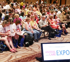 Welcome session at Animal Care Expo 2012