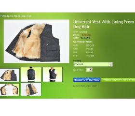 Dog fur vest screenshot