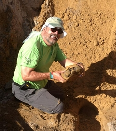 Dave with gopher tortoise