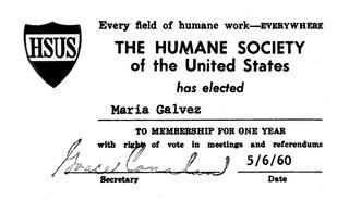 HSUS member card 60