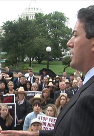 Wayne Pacelle at anti-horse slaughter rally on Capitol Hill
