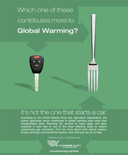 HSUS animal agriculture global warming ad