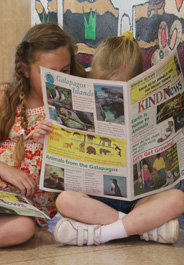 Students read The HSUS's KIND News