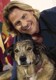 Ron Burns and his late dog Rufus