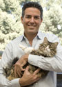Wayne Pacelle and his cat Libby